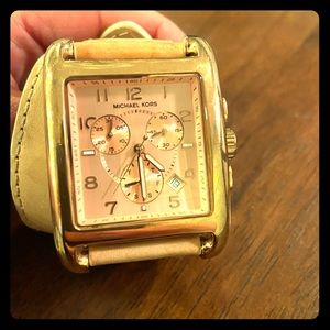 Michael Kors Watch- Rose Gold and Leather